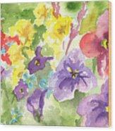 Vail Flowers Wood Print