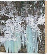Vail Ice Falls Wood Print