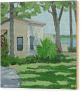 Vail Point Cottage Wood Print