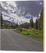 Vail Road Wood Print