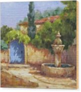 Vaison La Fontaine Wood Print