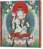 Vajrasattva Yuganadha  Wood Print