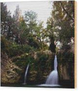 Val Rea Waterfalls Wood Print