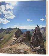 Valecito And Chicago Basins From Mt Jupiter - Weminuche Wilderness - Colorado Wood Print