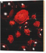 Valentine - Roses Wood Print