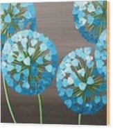 Valentine Alliums Wood Print