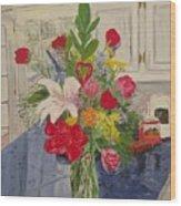 Valentine Bouquet Wood Print