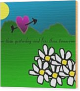 Valentine Card Wood Print