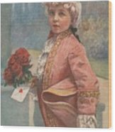 Valentine In The Victorian Era Wood Print