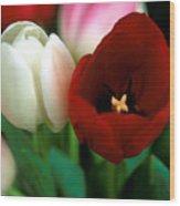 Valentine Tulips Wood Print