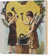 Valentines Day Card, 1900 Wood Print