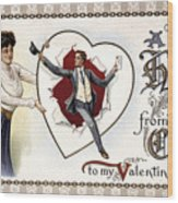 Valentines Day Card, 1909 Wood Print