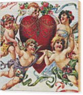 Valentines Day Card Wood Print