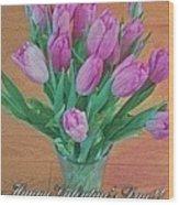 Valentine's Day Wood Print