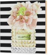 Valentino Perfume With Flower Wood Print