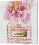 Valentino Pink With Peony Wood Print