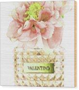 Valentino With Peony Wood Print