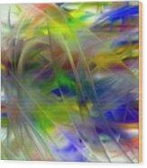Veils Of Color 2 Wood Print