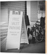 Valet Parking Wood Print