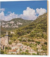 Valldemossa View From The Town Wood Print