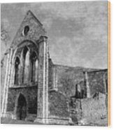 Valle Crucis Abbey Monochrome Wood Print