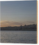 Valletta Malta Magic Hour Skyline Wood Print