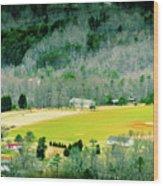 Valley Below Wood Print