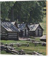 Valley Forge Barracks Wood Print