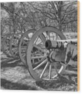 Valley Forge Battery Blackened White Wood Print