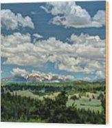 Valley In The Rockies Wood Print