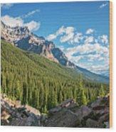 Valley Near Moraine Lake Banff Wood Print