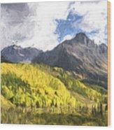 Valley Of Autumn II Wood Print