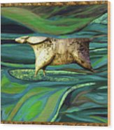 Valley Of Equus Wood Print