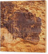 Valley Of Fire Ancient Petroglyphs Wood Print