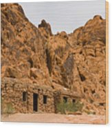 Valley Of Fire Cabins Wood Print