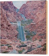 Valley Of Fire Drive Wood Print