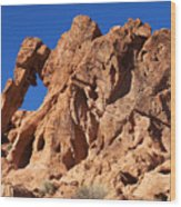 Valley Of Fire Elephant Rock Wood Print