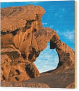 Valley Of Fire State Park Arch Rock Wood Print