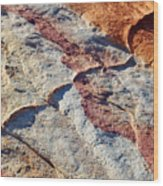 Valley Of Fire White Domes Sandstone Wood Print