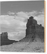 Valley Of The Gods Shadows Wood Print