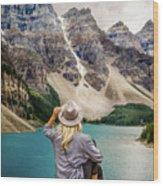 Valley Of The Ten Peaks Wood Print by Rod Sterling