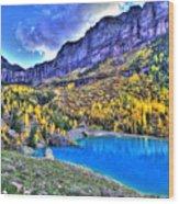 Valley Peak And Falls Wood Print
