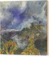 Valley Storm Clouds Wood Print