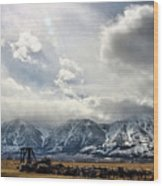Valley Storm Wood Print