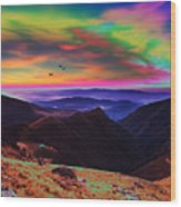 Valley Sunset Wood Print