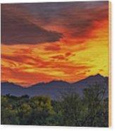 Valley Sunset H33 Wood Print