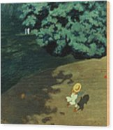 Valloton: Balloon, 1899 Wood Print
