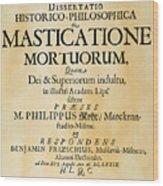 Vampire Book, 1679 Wood Print