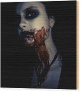 Vampire Feed Wood Print