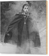 Vampire In The Fog Wood Print